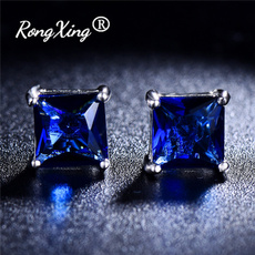 Blues, Stud, Jewelry, Blue Sapphire