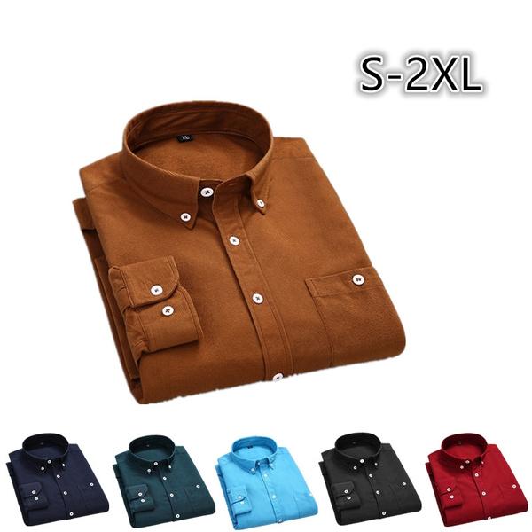 Turn-down Collar, Plus Size, Cotton Shirt, Shirt