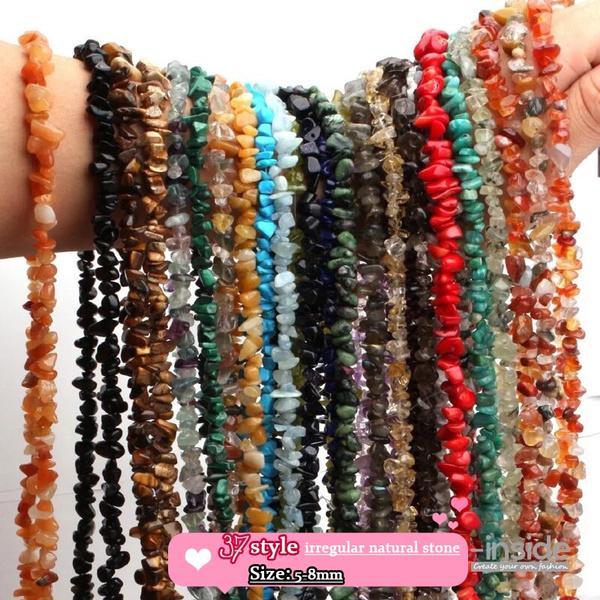 Necklace, irregularbead, gravelbead, loosegravel