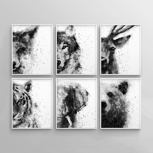 foxwallposter, Decor, Fox, elephantpicture