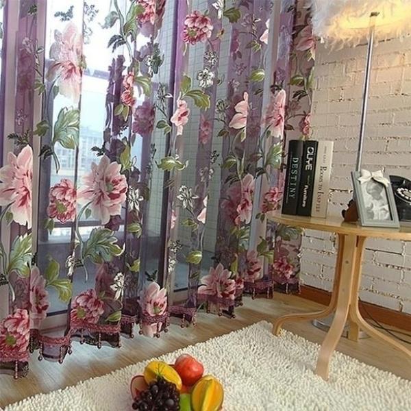Home & Kitchen, Flowers, Home Decor, vorhang