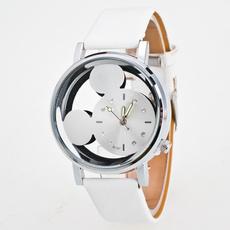 quartz, Clock, leather, relogio