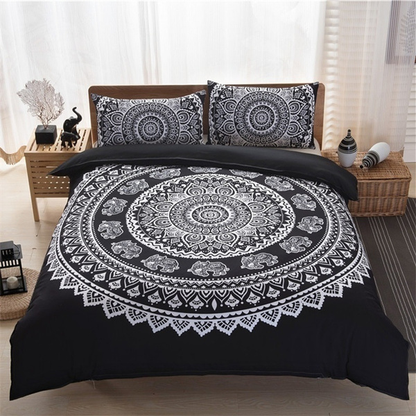 King Queen Size Home Decor Quilt Cover, Boho Bedding Queen Size