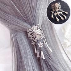 Women, Tassels, Hair Clip, Crystal