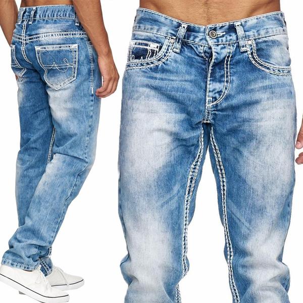 men's jeans, Plus Size, Winter, Loose