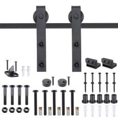 Steel, black, Door, countrystyleslidingdoorhardwarekit