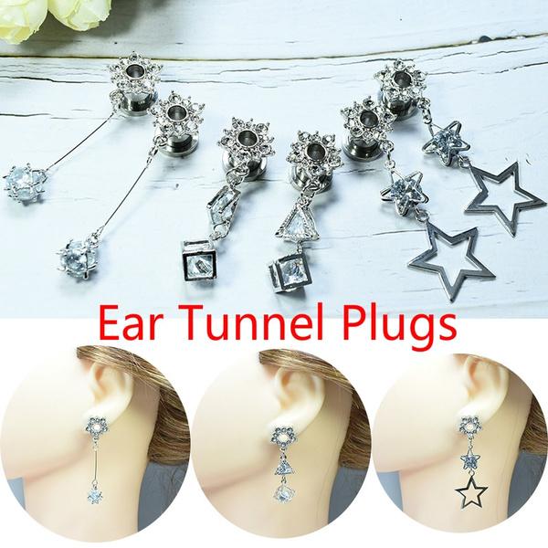 eartunnelplug, earstretcher, earexpander, Crystal