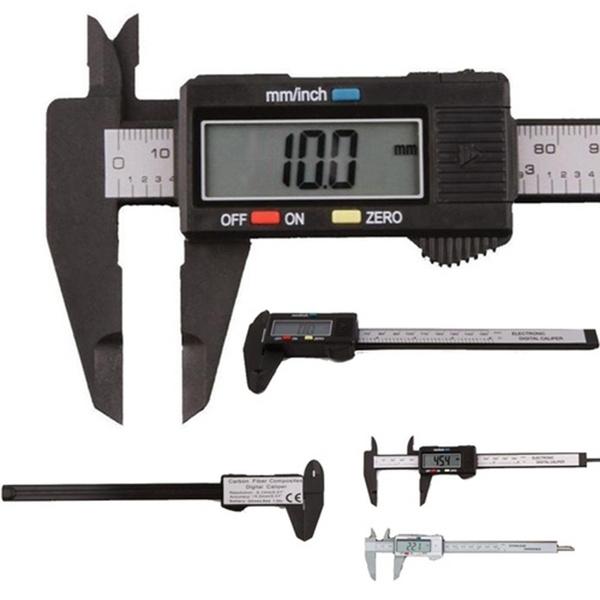 """Digital Electronic Gauge Plastic Vernier Caliper Micrometer Measuring Tools 4/"""""""