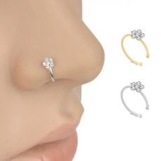 nosestudsampring, Flowers, Jewelry, Crystal Jewelry