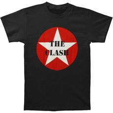 Summer, Men, Star, Cotton T Shirt