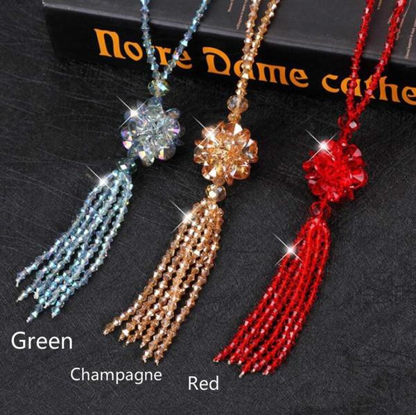 Necklace, Chain Necklace, Jewelry, bohocrystalbeadsnecklace