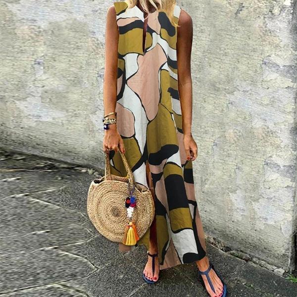 Summer, printeddres, tunic, long dress