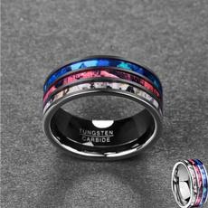 Steel, tungstenring, polished, wedding ring