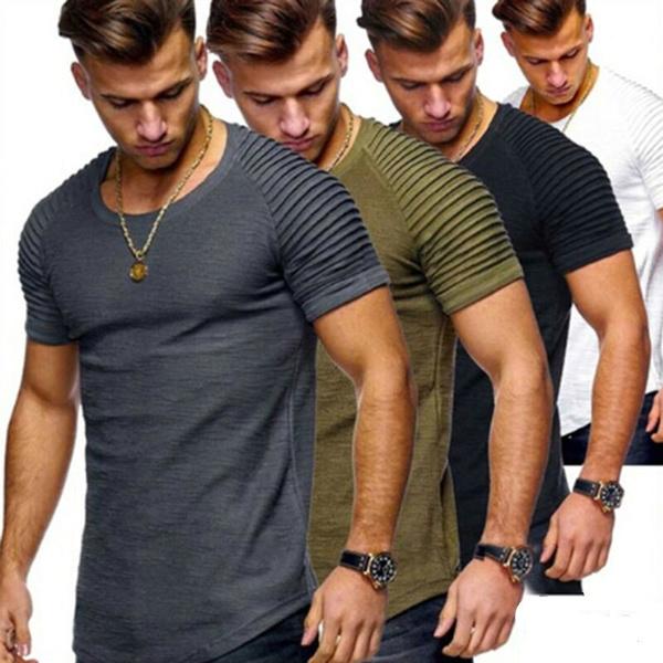 Mens T Shirt, Fitness, summer t-shirts, short sleeves