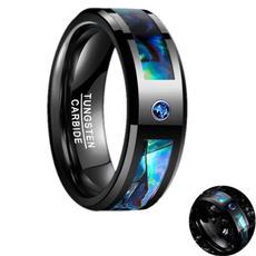 Steel, Cubic Zirconia, tungstenring, wedding ring