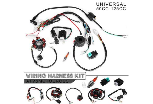 50CC-125CC CDI STATOR Mini ATV Complete Wire Harness 6 Coil Ignition For  PIT Quad Dirt Bike ATV B2   Wish