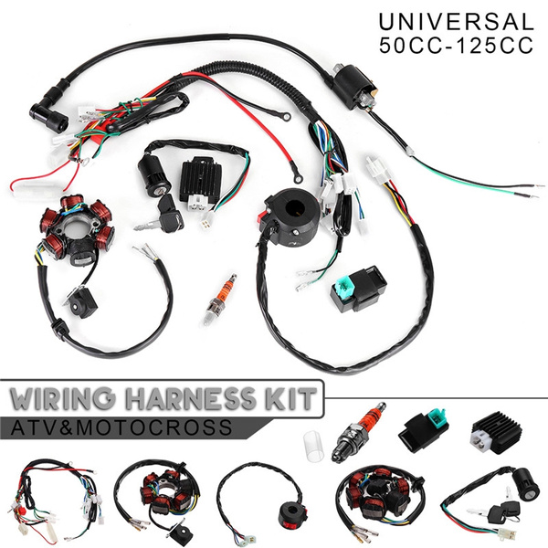 50CC-125CC CDI STATOR Mini ATV Complete Wire Harness 6 Coil Ignition For  PIT Quad Dirt Bike ATV B2 | WishWish