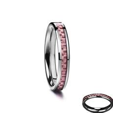 Steel, pink, tungstenring, Fiber