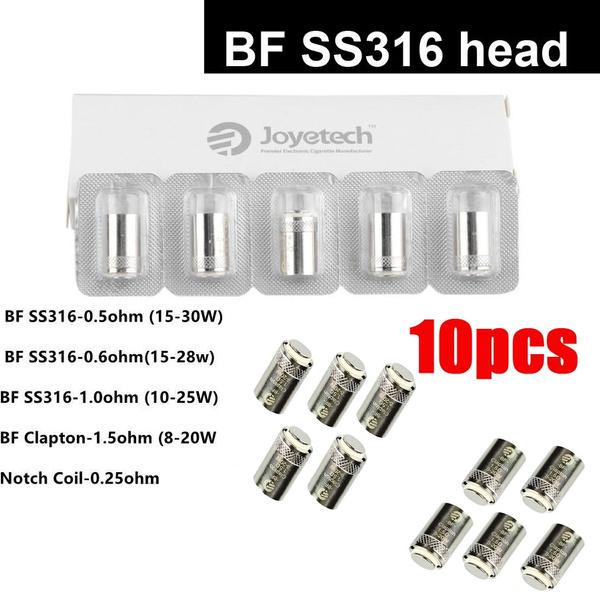 joyetechcoil, bfclapton, bfss31606ohm, atomizercore
