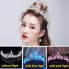 lightupcrown, bridalheadband, princesscrown, hairtiara