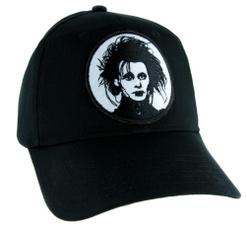 Baseball Hat, timburton, mens cap, edwardscissorhand