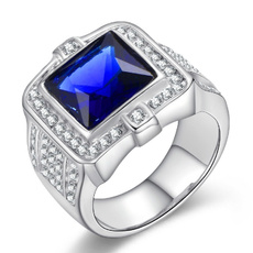Cubic Zirconia, White Gold, Jewelry, Stainless