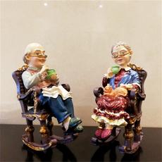 grandparentssittingrockingchairdecoration, grandparentssittingrockingchair, Chair, Home & Living