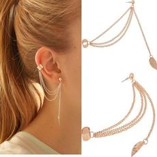 Fashion, punk earring, Chain, Stud Earring