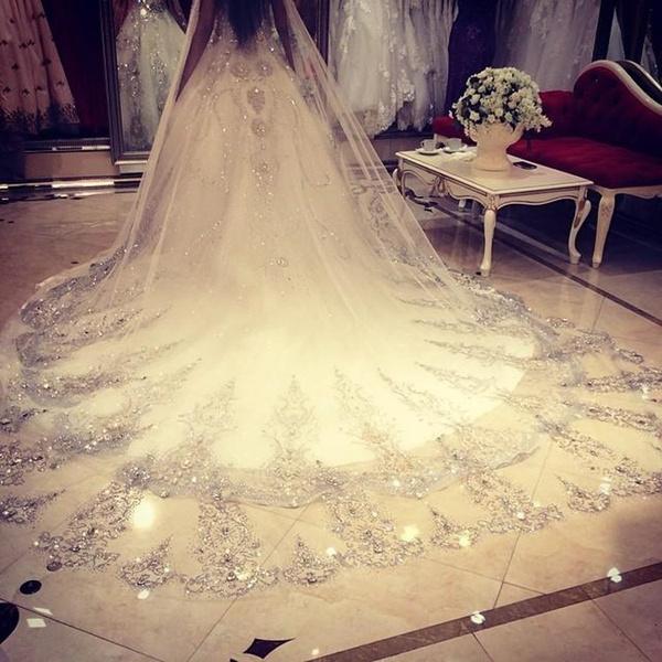 Ivory, veilwithcomb, Bridal, bridalveil