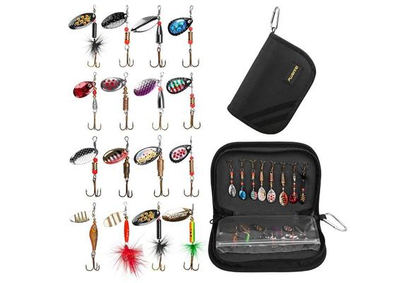 Details about  /2pcs Spinner Bait Sequin Spoon Wobble Hook Artificial Bait Fishing Tackle