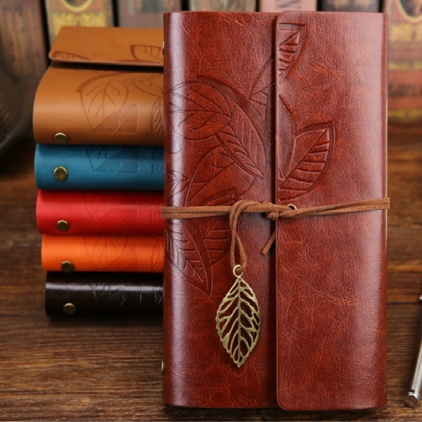 leaf, Gifts, leather, travelnotebook