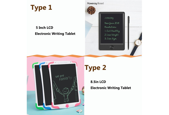Color : Blue, Size : 8.8 inches Wecnday-Home Drawing Tablet Childrens Smart LCD Tablet Childrens Writing Pad Graffiti Writing Pad Gifts for Girls Boys