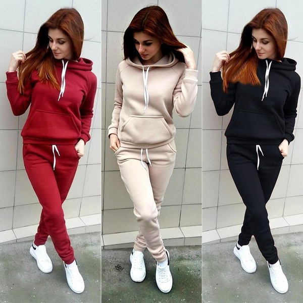 Fashion, women's jogging suits, Elastic, Sports & Outdoors