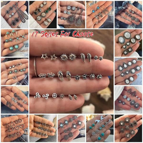 Antique, bohemia, Stud, Jewelry