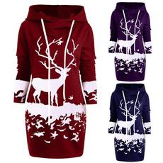 Fashion, sweater dress, Christmas, Long Sleeve