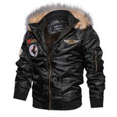 Fashion, fur collar, Jackets for men, Motorcycle