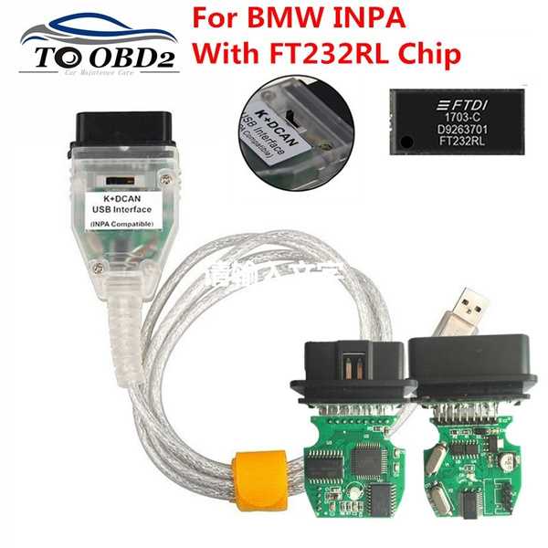 with Switch Work with ISTA SSS NCS Coding Winkfp Programing for BMW INPA K+DCAN Diagnostic Cable Compatible for BMW E Serials E39 E46