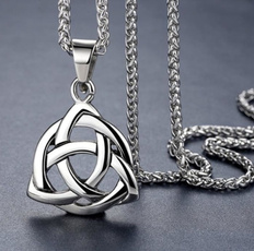 Steel, Party Necklace, Irish, necklaces for men
