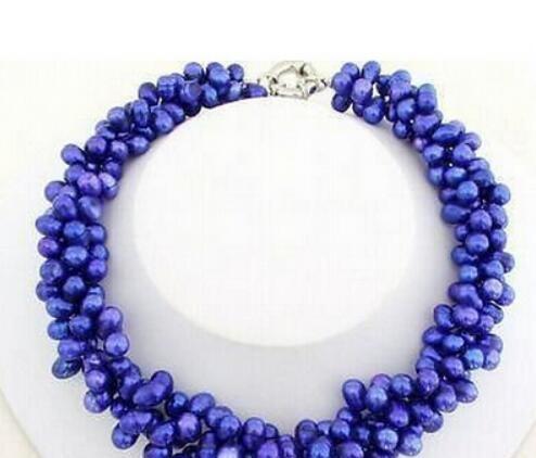 Blues, pearls, Necklace, Women jewelry