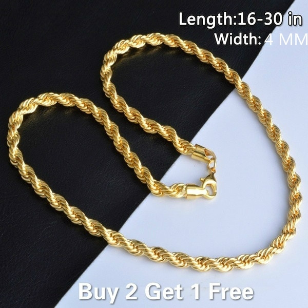 Sterling, Chain Necklace, Men  Necklace, gold