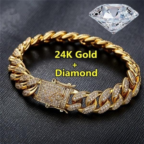 24kgold, DIAMOND, gold, Chain