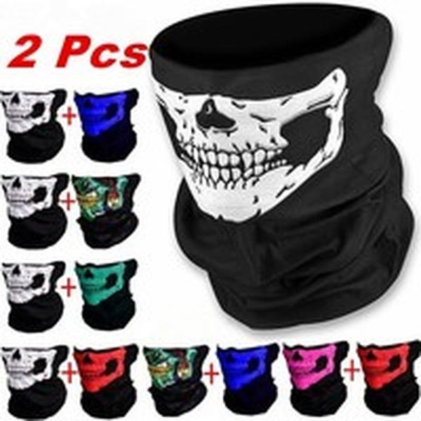 scary, Scarves, skull, flagmask