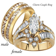 Steel, Fashion, wedding ring, gold