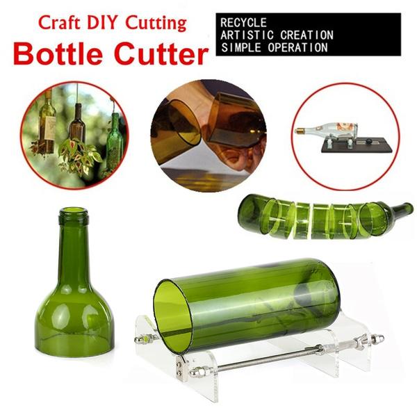 Professional Glass Cutting Bottle Cut Tool Acrylic DIY Lamp Maker SandpaperPLUS