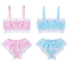 underwearset, bowknotlaceunderwear, Fashion, silkysmooth