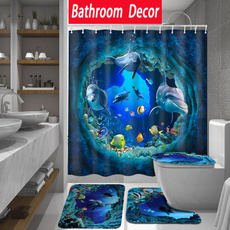 Bathroom, Bathroom Accessories, Waterproof, Shower Curtains