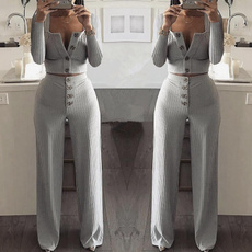 Two-Piece Suits, crop top, Long sleeve top, Sleeve