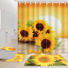 Polyester, Bathroom, toiletmat, Sunflowers