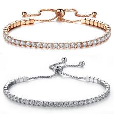 Sterling, Crystal Bracelet, DIAMOND, Jewelry