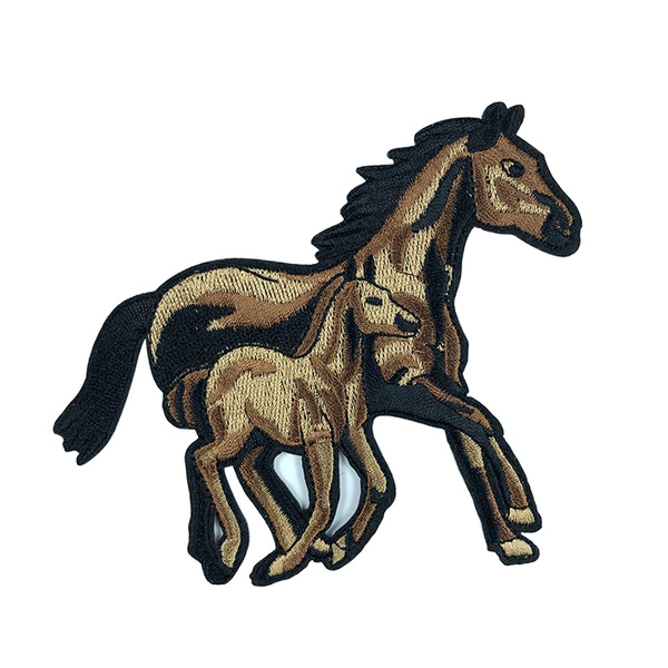 horsepatchwork, ironon, Cowboy, horsepatch